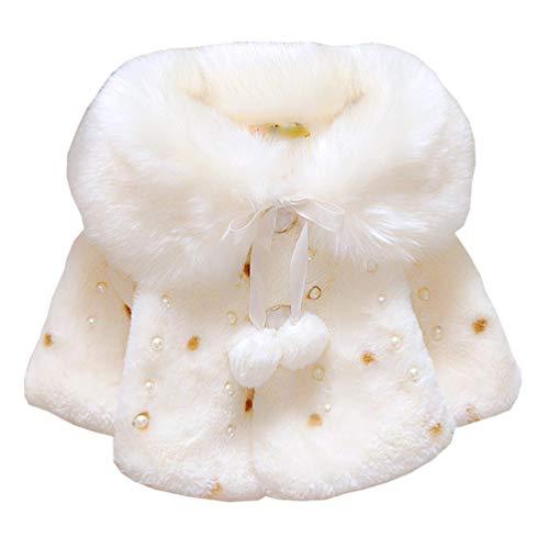 Oksakady neonato infantile bambino ragazza pelliccia ecologica cappotto giacca mantellina mantello poncho 0-3 anni
