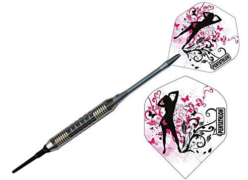 Mädchen pink Soft Dart Pfeile Chrom Darts E-Dart 18 Gramm