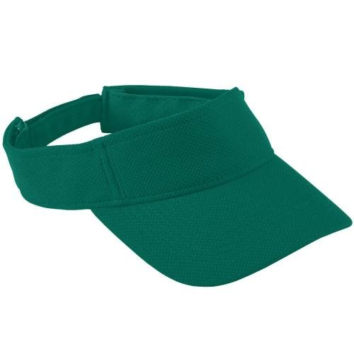 Adult Adjustable Wicking Mesh Visor DARK GREEN OS (Augusta-mesh-visor)