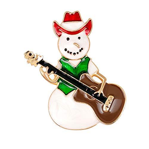 Yazilind Brosche Frauen Gitarre Weihnachten Hochzeit Braut Pin Kleid Schals Schal Clip Damen Schmuck