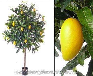 Kunstbaum Mangobaum, Exotischer Kunstbaum, 210cm – künstliche Blumen Kunstblumen Dekoblumen Kunstpflanzen