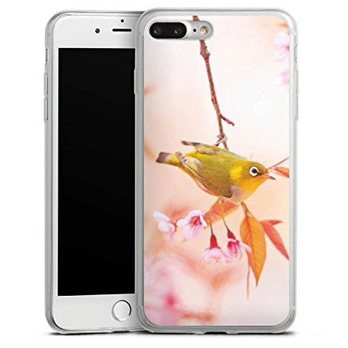 Apple iPhone 8 Slim Case Silikon Hülle Schutzhülle Vogel Vögelchen Natur Silikon Slim Case transparent