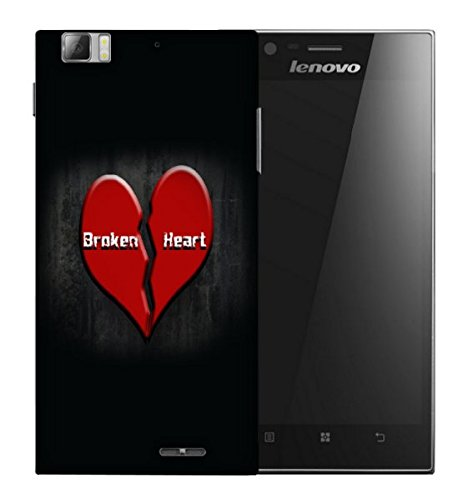Snoogg Broken Heart Designer Protective Back Case Cover For LENOVO K900  available at amazon for Rs.129