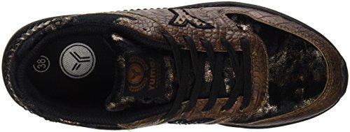 Yumas Damen Brenda Klassische Schuhe Bronze, Schwarz