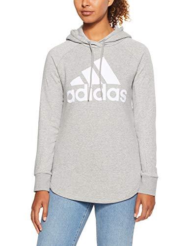 adidas Damen Sports ID Open Hem Kapuzen-Sweatshirt Grey Heather/White, XL