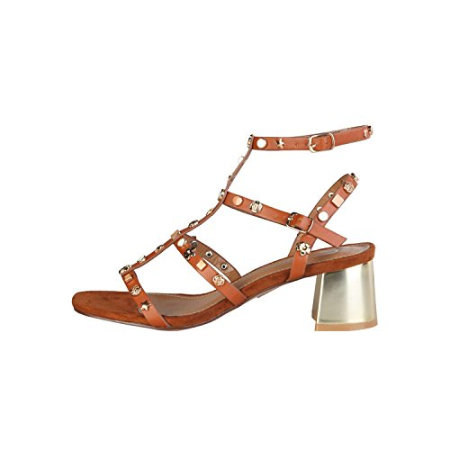 Ana Lublin - TELMA Sandali Donna Con Cinghia Regolabile Alla Caviglia Tacco 5 cm Marrone