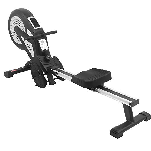 ISE Rameur d'appartement Rameur à air Pliable Appareil de Fitness Musculation Cardio Training...