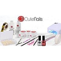 Kit completo Geles LED/UV con lámpara UV 36W / Kit completo gel de uñas/Kit geles 15ml