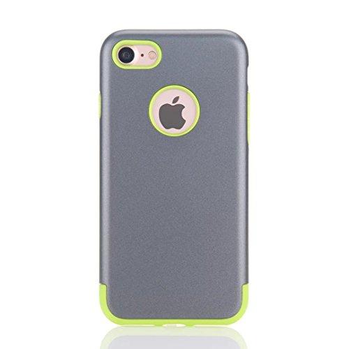 MOONCASE iPhone 7 Hülle Hybrid Dual Layer TPU +PC Handyhülle Rugged Armor Defender Case Anti-scratch Tasche Schutzhülle für iPhone 7 4.7 Inch Rose Gold Grau Grün