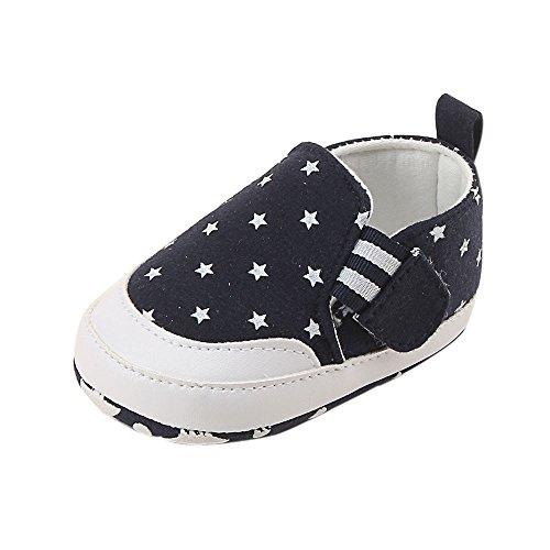Krabbelschuhe Babyschuhe Lauflernschuhe Kleinkind Ronamick Sterne drucken Baby Kinder Junge Schuhe Prinzessin(Age:12~18 Monate, Marine)