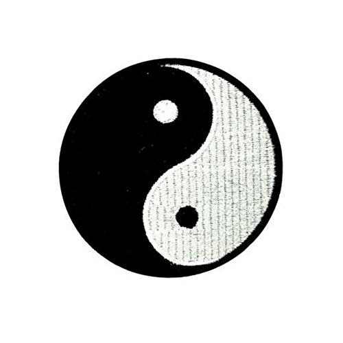 ximkee (5Stück) Yin Yang chinesische Tai bestickt Nähen Eisen auf Aufnäher Patches, M (Yin-yang-stoff)