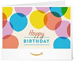 Happy Birthday Balloons - Printable Amazon.co.uk Gift Voucher