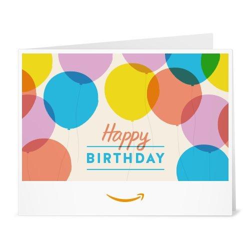 Happy Birthday Balloons - Printable Amazon.co.uk Gift Voucher