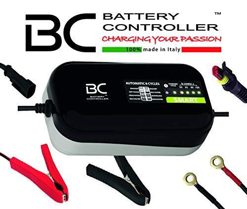 BC SMART 2000 - 12V 2A - Caricabatteria automatico a 8 cicli di carica per tutte le batterie 12V al piombo-acido di auto e moto