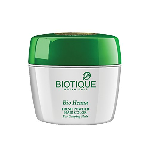 Biotique Bio Heena Fresh Powder Hair Color For Greying Hair, 90gm