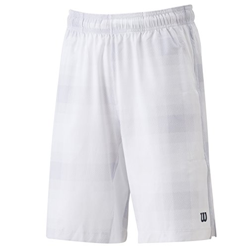Plaid Woven Shorts (Wilson Shorts Summer Blur Plaid Stretch Woven, Weiß, XL, WRA700402)