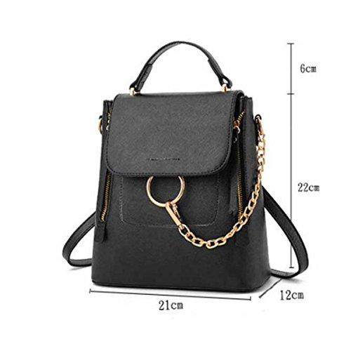 Frauen Schultertasche Diagonalpaket College Wind Handtasche Black
