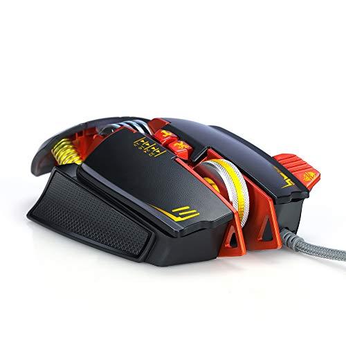 GUOJINJIN Mechanische Gaming-Maus Programmierbare Taste Professionelles Spiel USB-Gaming-Maus Justierbares Gewicht, Balance-Einstellung,Black (Huhn Balance)