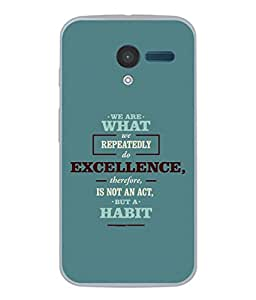 FUSON Designer Back Case Cover for Motorola Moto X :: Motorola Moto X (1st Gen) XT1052 XT1058 XT1053 XT1056 XT1060 XT1055 (Illustration Inspiration Change Motivate )