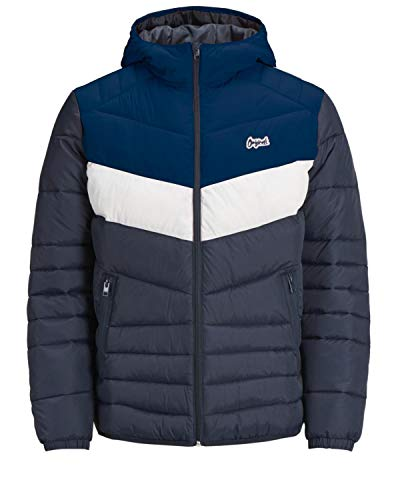 JACK & JONES Herren Bend Light Pufferjacke, Blau, Medium Classic Nylon Mantel