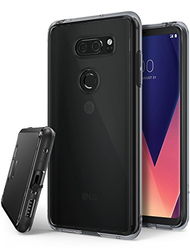 Ringke LG V30, LG V30 Plus, LG V30S ThinQ Hülle, Fusion Case PC TPU Bumper Handyhülle Schock Absorbtions Technologie für LG V 30, V 30 Plus, V 30 S ThinQ Panzer Cover - Smoke Black