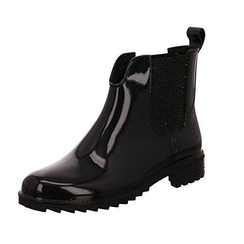 Rieker Damen Gummi-Stiefel gefüttert Schwarz, Schuhgröße:EUR 36 -
