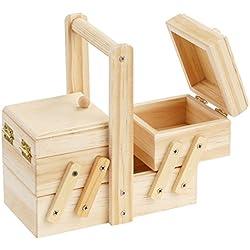 Caja de costura de madera 14, 5x 7x 8cm