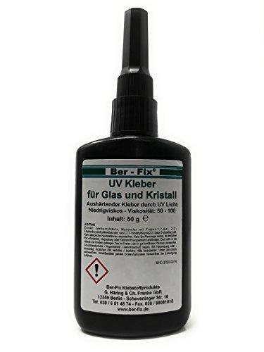 50g UV Kleber dünnflüssig | Glas mit Glas | Metall | Kunststoff | Ber-Fix für jede Anwendung den richtigen Klebstoff -