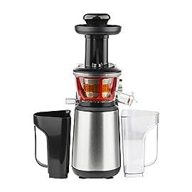 H.Koenig GSX12 Estrattore di Succo a Freddo, 60 giri/min, Frutta e verdura, Spremitura Lenta, Acciaio Inox, BPA Free, 1L, 400W