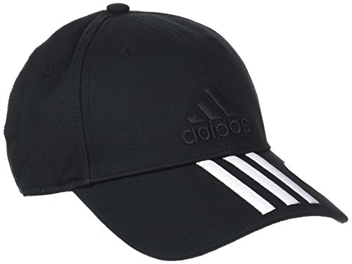 adidas Six-Panel Classic 3-Stripes Mütze, Black/White, OSFW