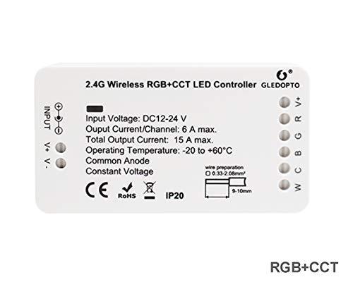 PeakLead ZigBee LED Strip Streifen Controller, RGB+CCT Steuergerät für 12-24V LED Licht Stripes Lichtband, ZigBee Light Link ZLL-Vorschaltgerät, Philips Hue Bridge, Amazon Echo Plus, Lightify