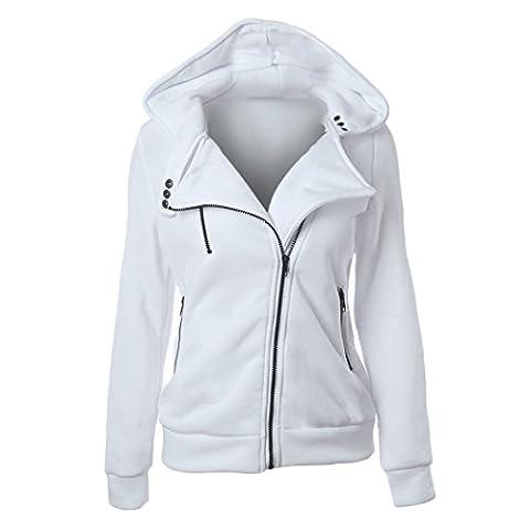 Casual Design Women Hoodies Zipper Hooded Sweatshirt Hoodies Overcoat Tops Blouses Plus Size XXL (2XL,