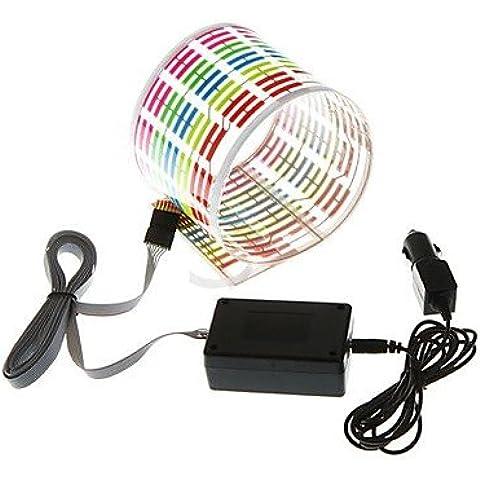 FULLModerna lampadina autoadesivo Musica Rhyt flash LED attivato suono Equalizzatore