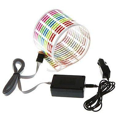 LIROOTAdesivo per auto ritmo musicale Flash LED lampada luce suono Equalizzatore attivato