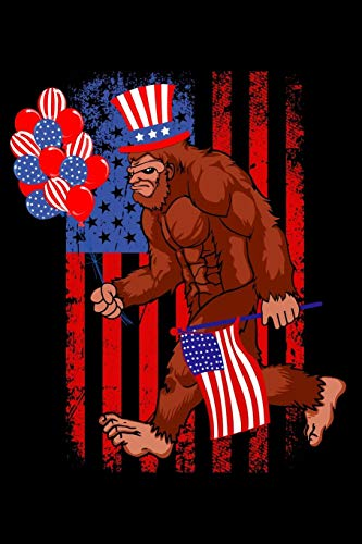 Yeti Hat - Funny bigfoot wirth american flag and