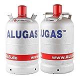 Alugas 2X 11 Kg Propangasflasche, Gasflasche für Camping leer ⛺