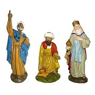 Ferrari & Arrighetti Figuras Belén: Los 3 Reyes Magos colección Martino Landi para Pesebre de 12 cm