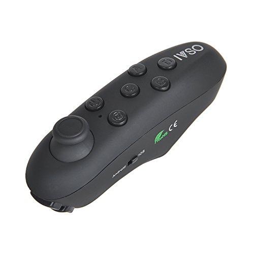 3D VR Brille Android System Bluetooth Fernbedienung Bluetooth Remote Controller Gamepad Fernbedienung Kamera Auslöser Selbstauslöser für Android Smartphone, 3D VR Brille, Tablet PC, etc, Schwarz