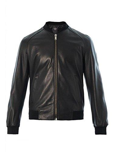 Leather4u KC369 Herren Lederjacke, Rindsleder , Schwarz