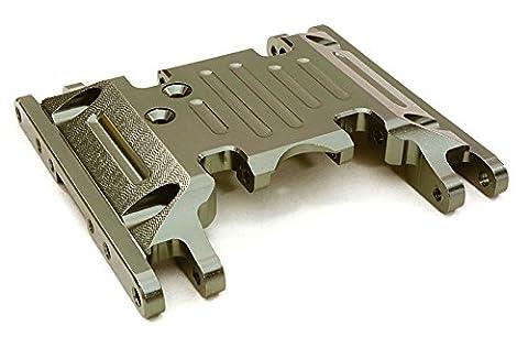Integy RC Model Hop-ups OBM-1330GUN CNC Machined Alloy Center Skid Plate for Axial 1/10 SCX10 II w/LCG Transfer Case