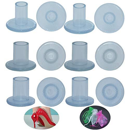 Baoii 6 Pares de Protectores de talón Alto Transparente Tapones de talón 3 tamaños Talones Zapatos Talones Tapones Cubiertas (S/M/L)