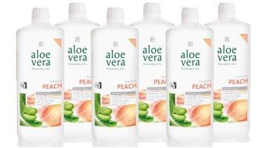 LR Sixpack Aloe Vera Trinkgel Pfirsich Nahrungsergänzung / Drinking Gel Peach 6 x 1000 ml