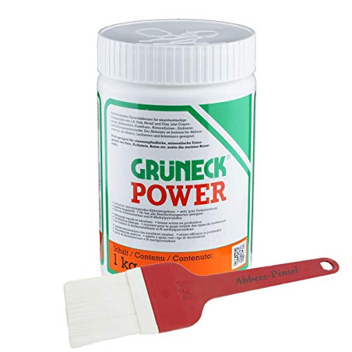 Abbeizer Set: Grüneck Power 1kg mit Abbeizpinsel 60mm