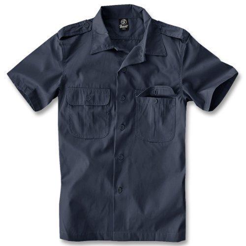 Herren Kostüm Marine Blau - Brandit US Hemd Kurzarm Navy - M