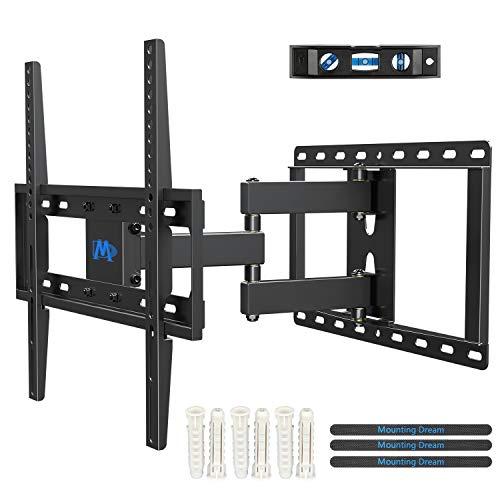 Mounting Dream TV Wandhalterung Schwenkbar Neigbar Ausziehbar, TV Halterung für die meisten 26-55 Zoll LED, LCD und OLED TVs mit Max. VESA 400x400mm bis zu 30kg, Montageschablone Enthalten, MD2378-03