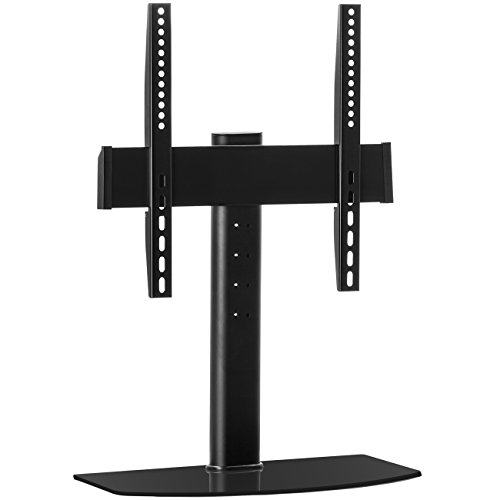 """deleyCON Universal TV Ständer 32""""-55"""" Zoll (81-140cm) 40Kg Standfuss Standfuß Fernseher-Tisch Halterung Höhenverstellbar Fernseh-Stand bis VESA 400x400"""