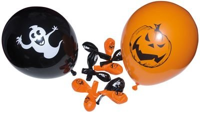 P'TIT Clown re10330 - Sachet de 10 ballons halloween 10