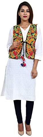 Craft Trade Embroidered Kutchi Jacket Cotton Traditional Long Choli Indian Wear for Womens/Girls