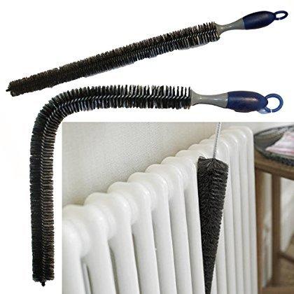 Plumero largo de 70 cm y flexible, para limpiar radiadores