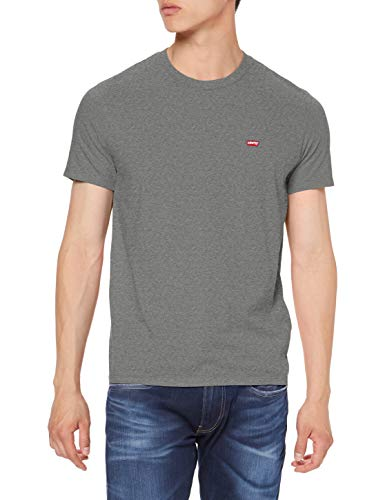 Levi's Herren SS Original HM Tee T-Shirt, Grau (Charcoal Heather 0022), Small (Herstellergröße: S) (Grau Herren T-shirt)